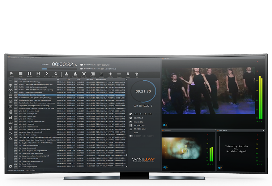moviejaySX TV playout automation