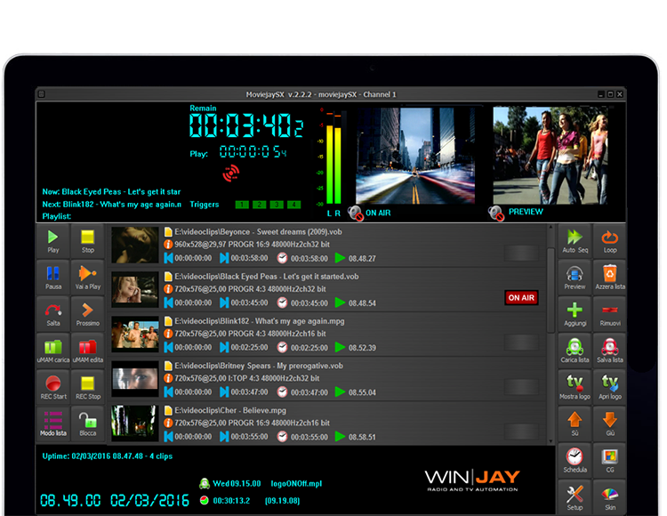 moviejaySX TV playout automation
